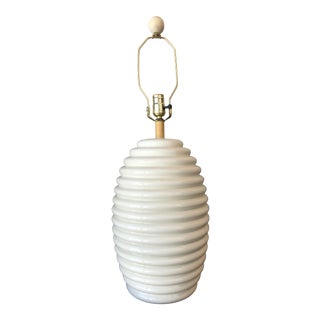 1980s White Ceramic Beehive Lamp Made in Italy for Tyndale For Sale