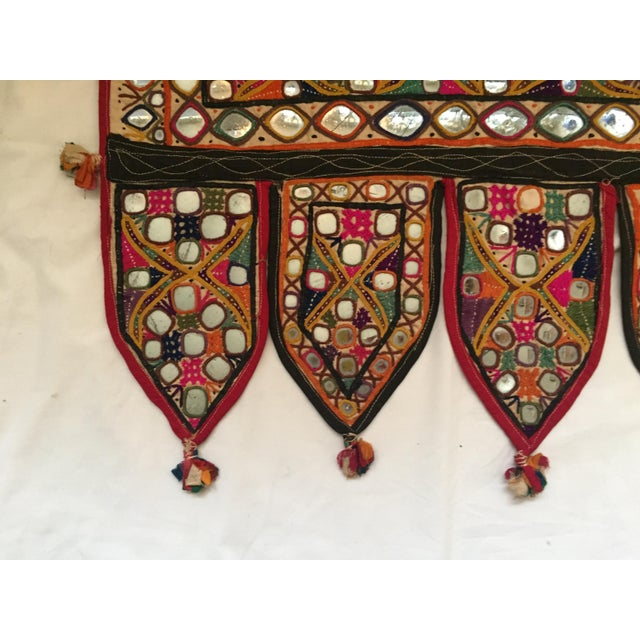Indian Embroidered Mirror Valance For Sale - Image 4 of 10