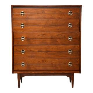 Walnut Tall Dresser by Hooker For Sale