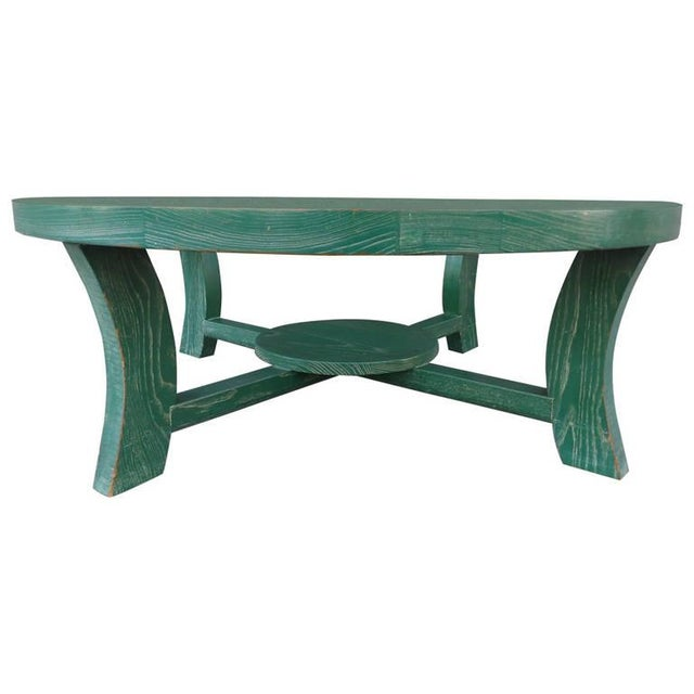 Paul Frankl Green Cerused Coffee Table - Image 1 of 6