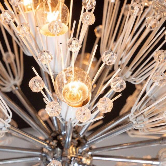 Midcentury Crystal Sputnik Chandelier by Emil Stejnar for Rupert Nikoll For Sale In New York - Image 6 of 9