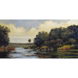 """Blair Framed Oil Painting, """"Salt Springs"""", 27.75 X 15.75 In. Frame For Sale"""