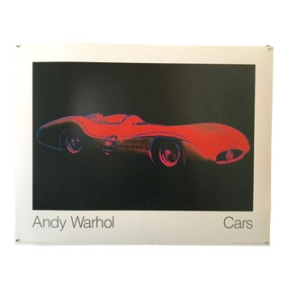 "Andy Warhol Cars ""1954 Formula One Car"" 1988 Poster For Sale"