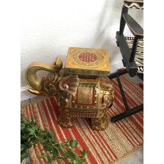 1960s Vintage Ceramic Elephant Stand or Side Table Preview