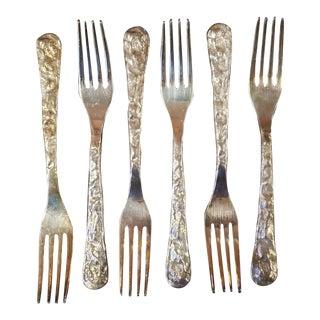 Michael Aram Cast Iron Artisan Dinner Forks - Set of 6 For Sale