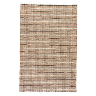 Jaipur Living Harringdon Natural Striped Gray/ Beige Area Rug - 5′ × 8′ For Sale