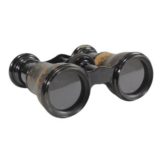 Antique French Leather Opera Glasses / Binoculars For Sale