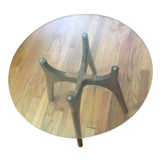1960s Mid-Century Modern Harvey Probber Sculpted Walnut End Table For Sale