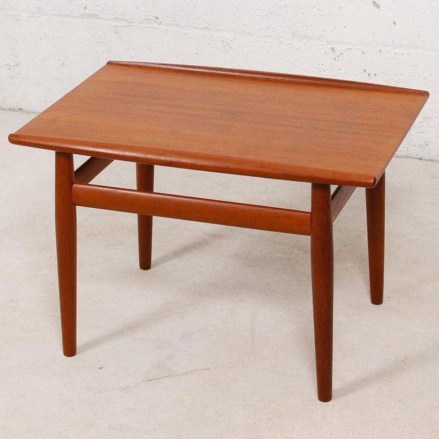 Grete Jalk Grete Jalk Teak End Table with Raised Lip Edge For Sale - Image 4 of 9