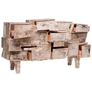 Unique Birchwood Chest of Drawers, Werner Neumann For Sale