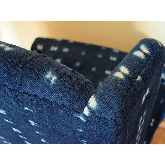 Indigo Mali Mudcloth Wingback Chair - Image 8 of 9