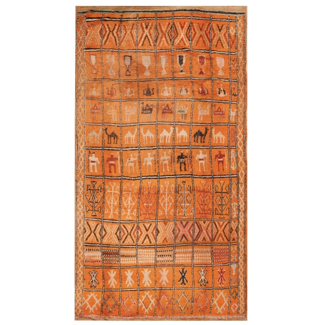 1930s Antique Moroccan Rug For Sale In New York - Image 6 of 6