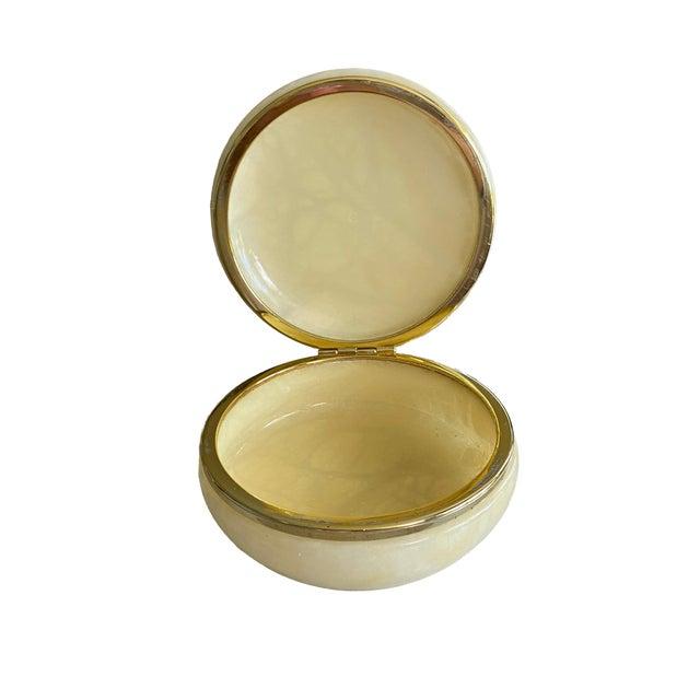 Mid Century Italian Alabaster Box For Sale - Image 4 of 6