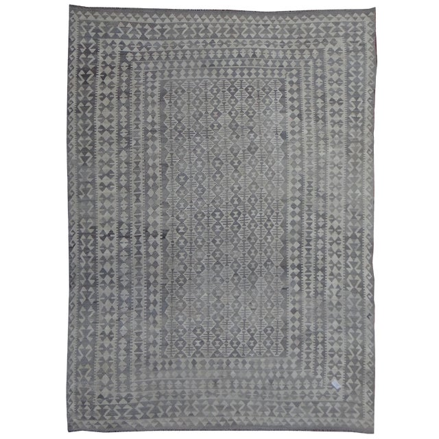 Aara Rugs Inc. Hand Knotted Maimana Kilim - 8′ × 10′1″ For Sale