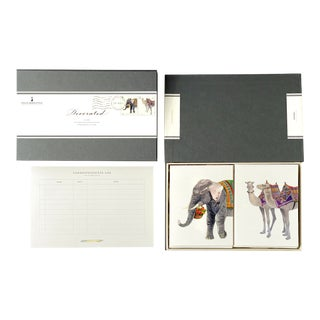 """Decorated"" - Couplet Boxed Stationery - Folded Card Pair - Set of 10 For Sale"