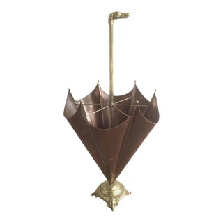 1940s, French Brass Umbrella Stand