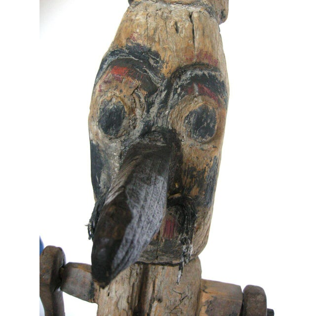 Antique Wood Balinese Scarecrow - Image 8 of 10