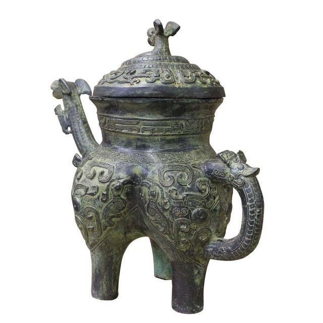 Bronze items or vessels were large-scale produced during the Shang Dynasty. They were mainly used for various ceremonial...