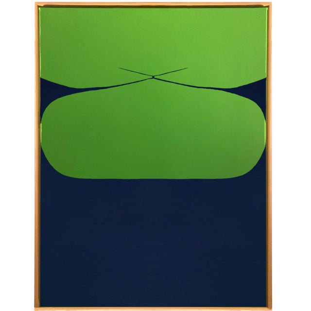Contemporary Minimalist Abstract Hard Edge Acrylic and Gouache Painting by Brooks Burns, Framed For Sale - Image 4 of 5