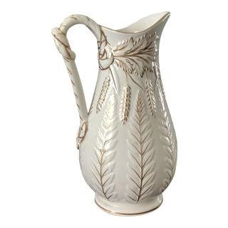 W. B. Cobridge Pottery Pitcher With Gilt For Sale
