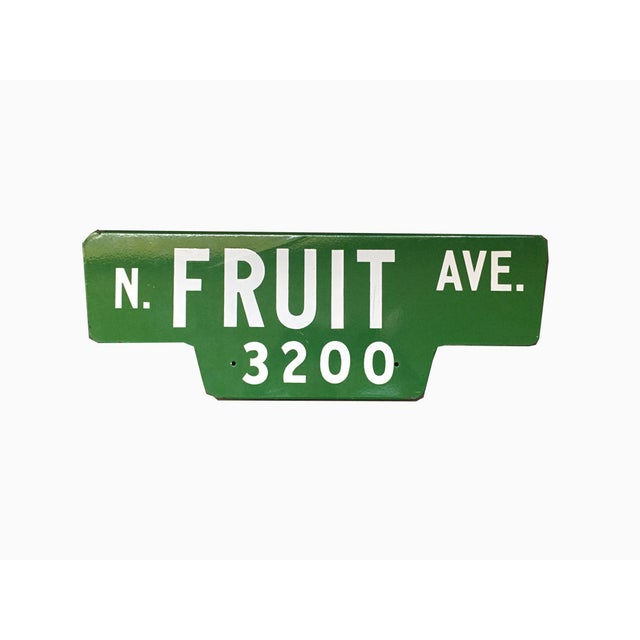 Vintage Street Sign, N Fruit Ave - Image 2 of 3