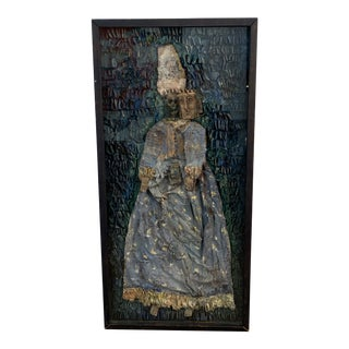 Rare French Mixed-Media Art Work For Sale