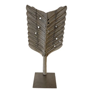 19th Century Metal Feather Weathervane Fragment For Sale