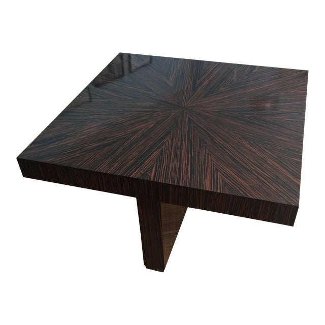 Ribboned Wood Coffee Table - Image 1 of 5