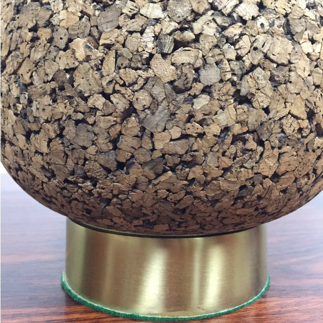 Cork & Brass Tear Drop Table Lamp - Image 5 of 7