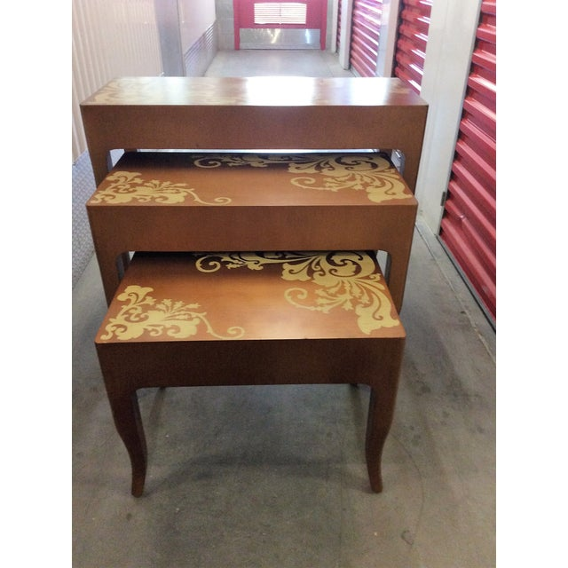 Contemporary Nesting Tables - Set of 3 - Image 3 of 8