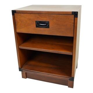 1960s Mid Century Modern Drexel Walnut Nightstand For Sale