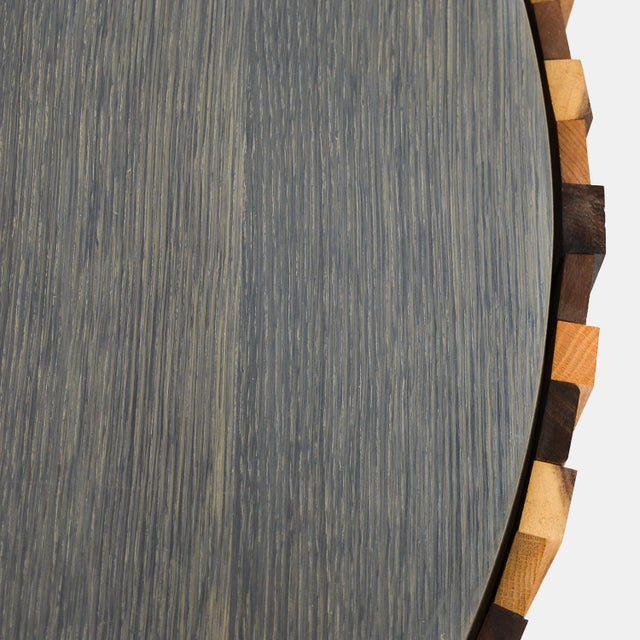 Rotsen Furniture Round Salvaged Wood Coffee Table For Sale - Image 4 of 7