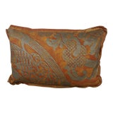 Image of Bittersweet & Silvery Gold Fortuny Accent Pillow For Sale