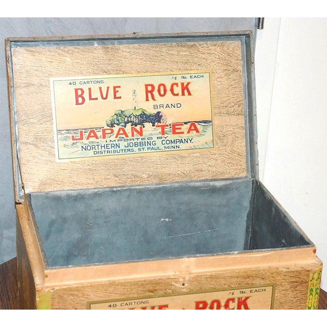 Blue Rock Japan Tea Box For Sale - Image 4 of 8