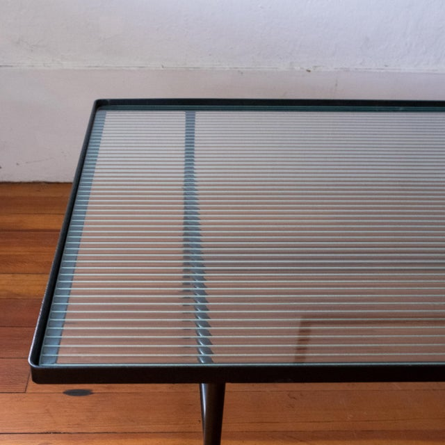 Mid Century Modern Iron Coffee Table With Magazine Holder For Sale - Image 12 of 13