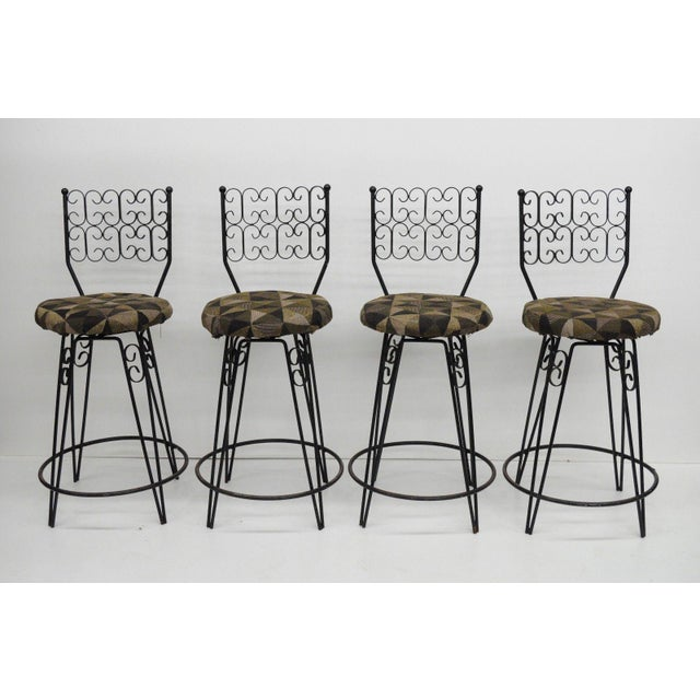Arthur Umanoff Grenada Swivel Counter Bar Stools - Set of 4 For Sale - Image 10 of 10