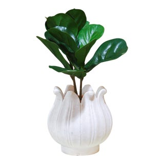 Marble Lotus Bud Vase For Sale