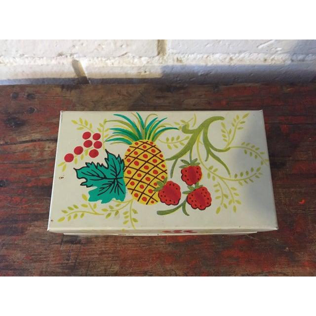 Tin Recipe Box With Fruit - Image 3 of 9