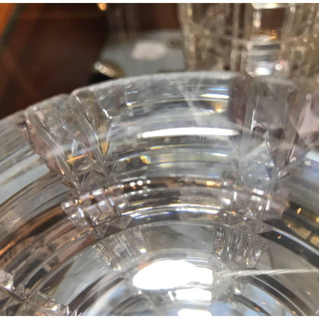 1950s Mid-Century Modern Cut Crystal Cylinder Vases - a Pair For Sale - Image 10 of 11