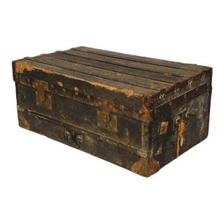 Antique Military Trunk For Sale