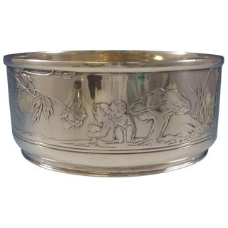 Tiffany & Co. Sterling Silver Child's Bowl With Acid-Etched Fairies For Sale