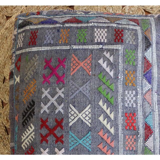 Mistic Moroccan Vintage Floor Pouf - Image 3 of 3