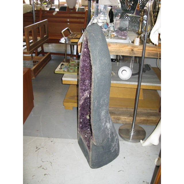 Amethyst Geode Large Crystal Cathedral Specimen - Image 5 of 9