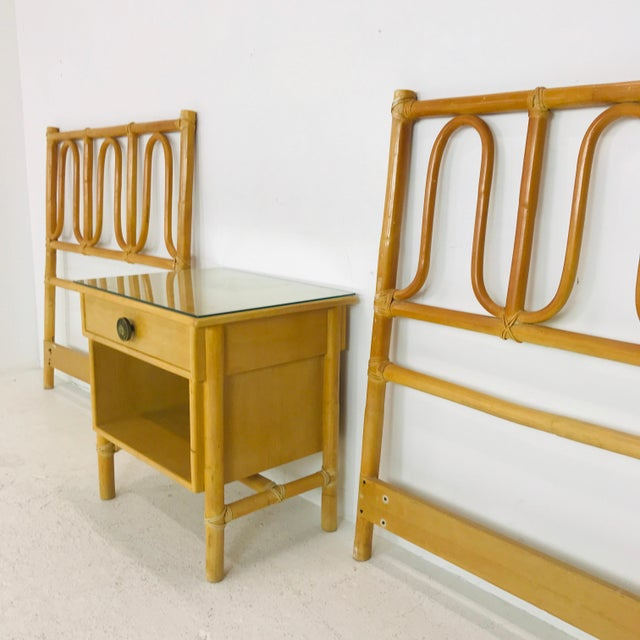 Wood McGuire Twin Headboards Pair For Sale - Image 7 of 8