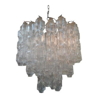 Mid-Century Modern Murano Glass Chandelier Attributed to Toni Zuccheri for Venini For Sale
