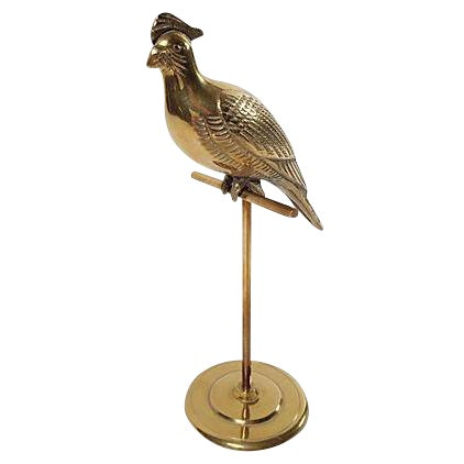 Brass Cockatoo on Stand - Image 1 of 4