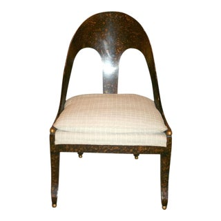 Michael Taylor for Baker Neoclassic Spoonback Chair For Sale