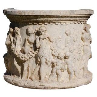 19th Century Italian Marble Wellhead, Signed For Sale