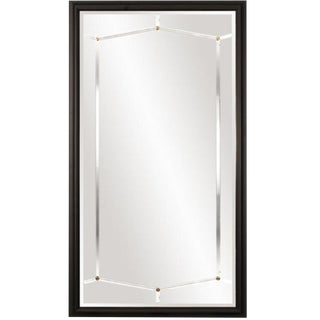 Modern Black Wood Bogart Full Length Mirror For Sale