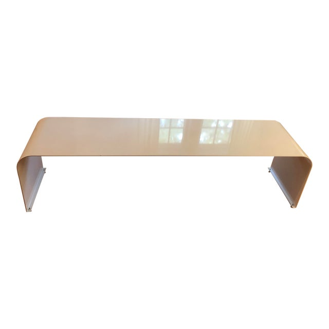 1970s Vintage Steel Waterfall Dining Bench For Sale